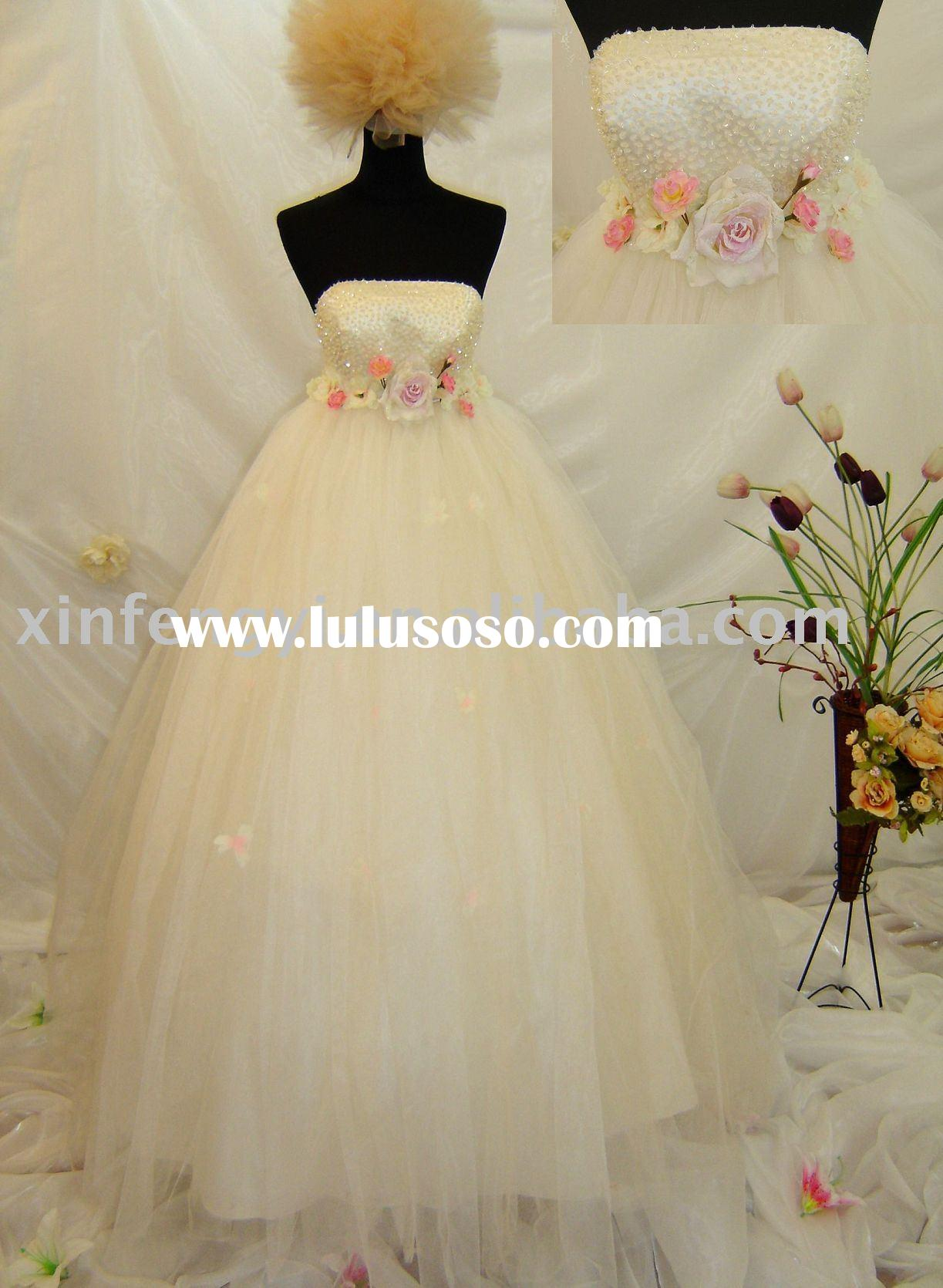 own design wedding dresses bridal gown/veil