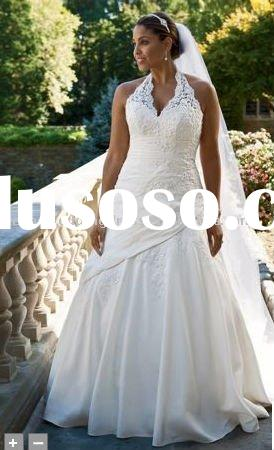 plus size Lace Mermaid wedding dress