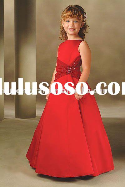 red children's party dress /night dress xxk0053