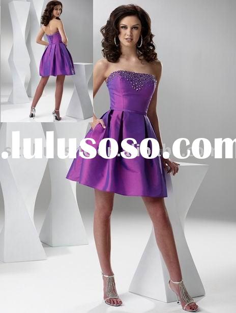 short purple prom dress 2011 WZ1677