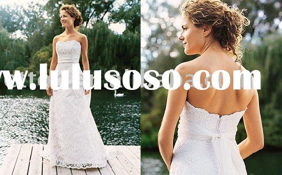 simple design lace wedding dress