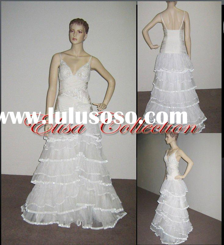 sophisticated prom dress Whiter ball gown