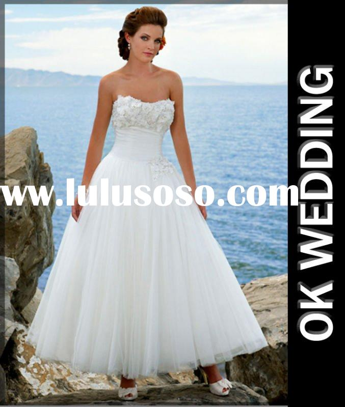 100% off shipping 2011 noblest Fashionable tea designer wedding dresses