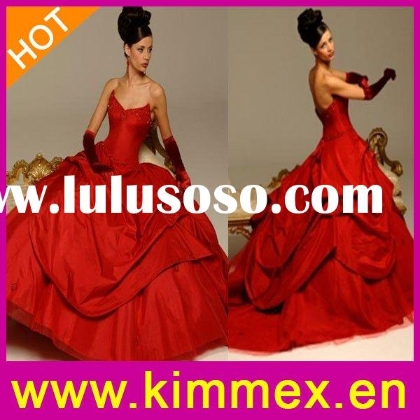 2010 Red Wedding Dress