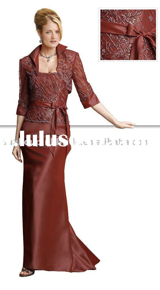 2011 Formal  Long sleeveles&Lace  mother of the bride dresses