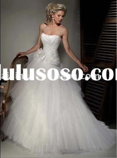 2011 Maggie Sottero Giselle One-Shoulder Stain  Ball Gown Chapel Train Bridal Gown Wedding Dresses