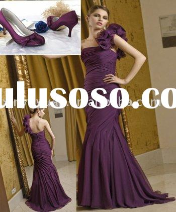 2011 elegant sheath designer single strap bride mother dresses with jacket MLM-010