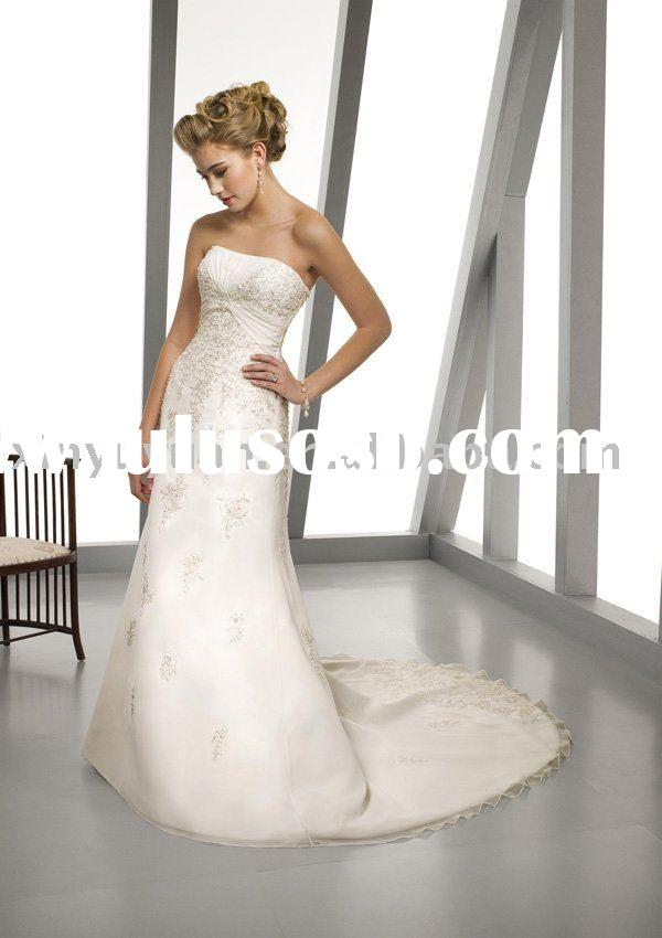 2011 plus size custom couture tulle wedding dresses MLW-069