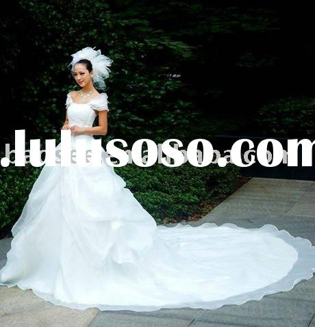 2011 wedding dress bride dress with long train W176 free shipping