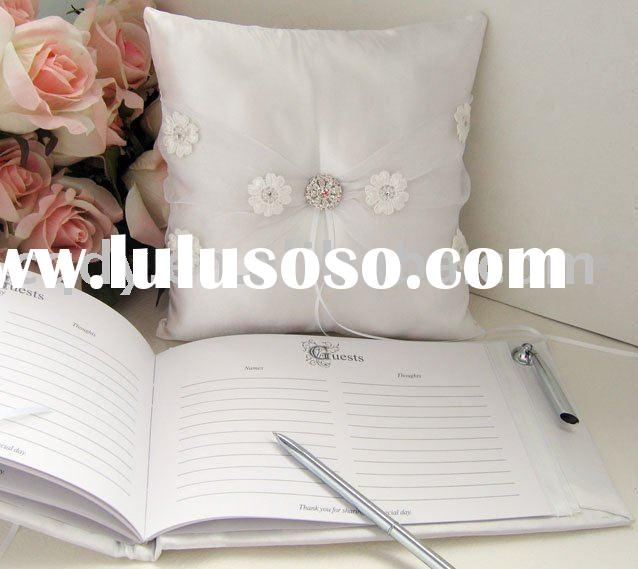 2011 wedding  ring pillow/wedding decoration set/sunflower wedding guest book/wedding accessory