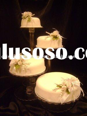 4 Tier Elegant Crystal Acrylic Wedding Cake Stand