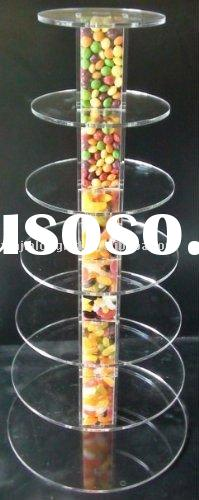 7 Tier Elegant Acrylic Cake Display Stand for Weddings&Parties