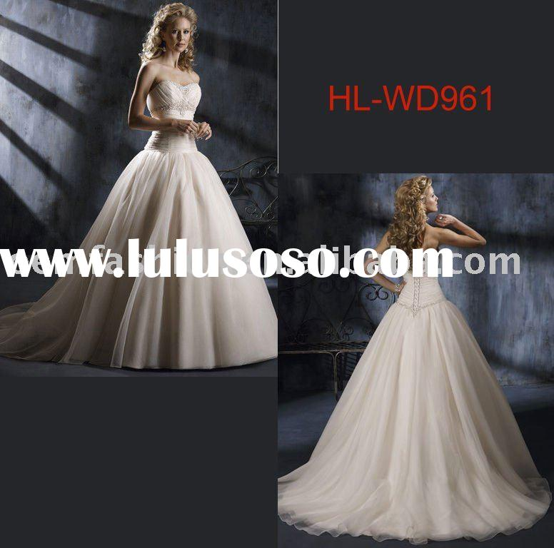 Beautiful designer wedding dress  HL-WD961