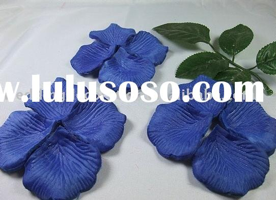 Blue Silk Rose Petals