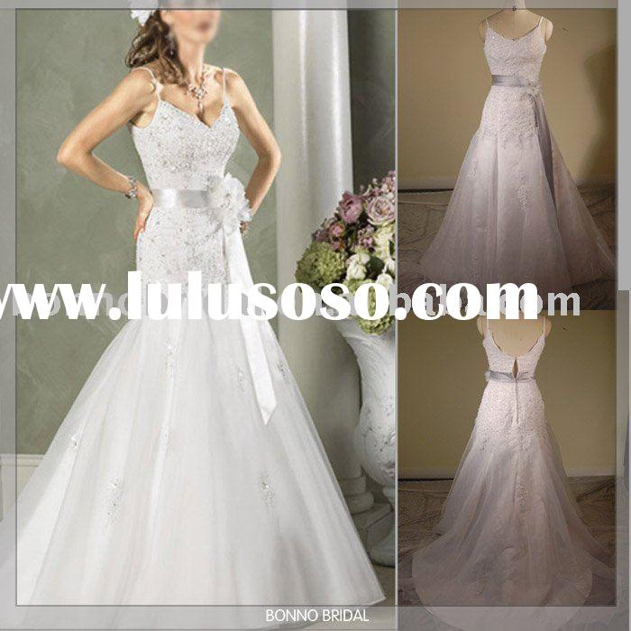 Bridal dress,customized wedding dress,high quality manufacture elegant lace wedding gown -A001