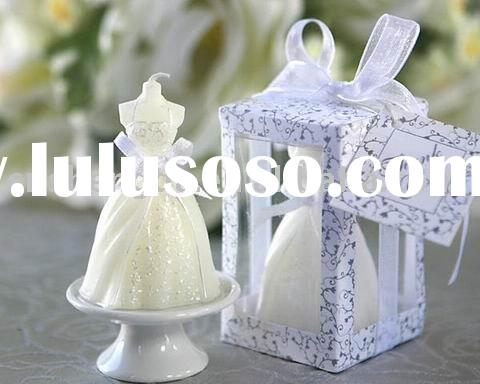 Bridal veil wedding candle