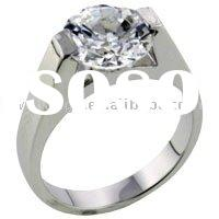 Cathedral Set Cubic Zirconia Ring