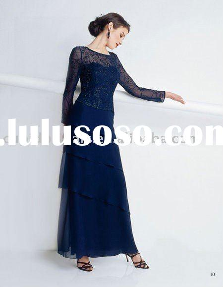 Chiffon and lace mother of the bride dresses CBM10076