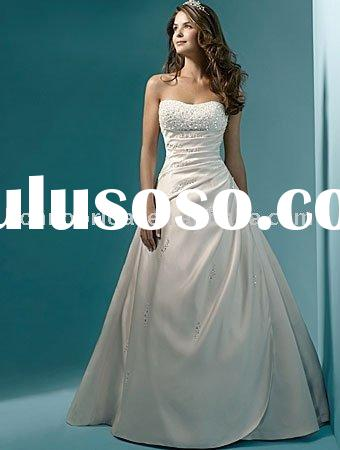 Classic style high quality customized design manufacture wedding dress gown bridal dress gown-CW1001