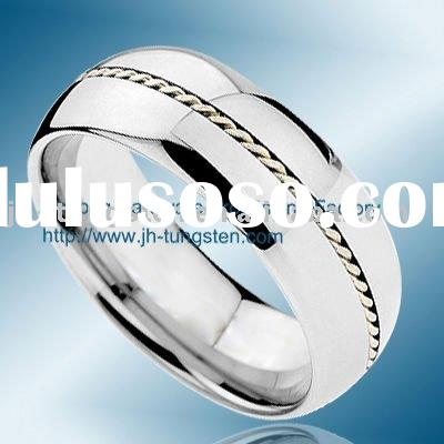Custom Tungsten Wedding Ring with 925 Silver Hot Sales