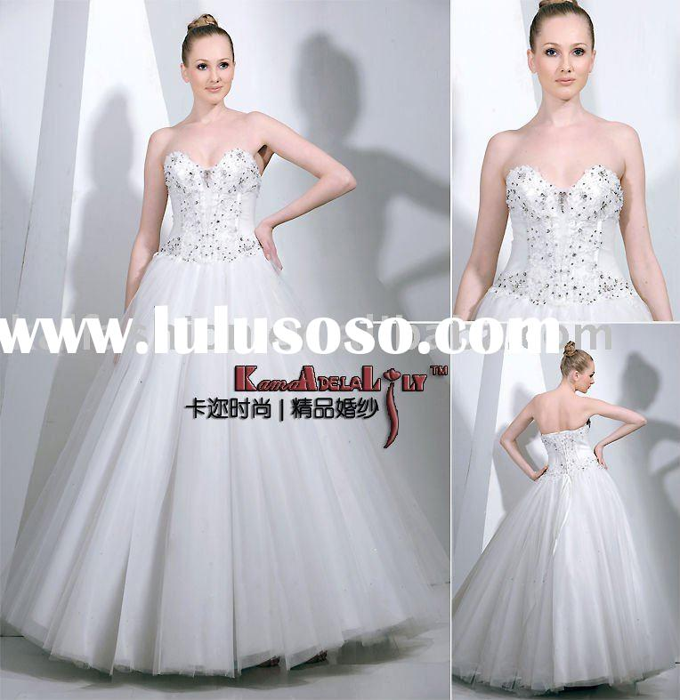 EB8231B Swarovski ornament hand-beaded ball gown wedding dress bridal dress wedding gown