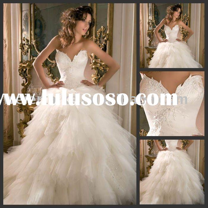 H2233 Popular new tulle BALL gown A-line wedding gown