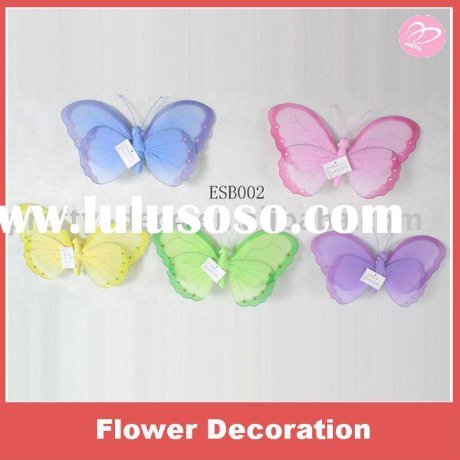 Handmade silk butterfly for home decoration
