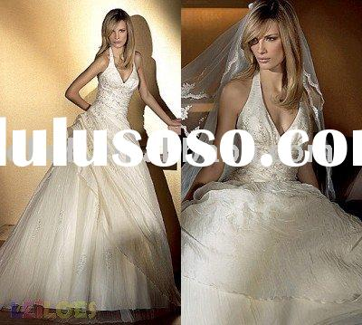 New style 2010 Fancy beach wedding dress HS6086