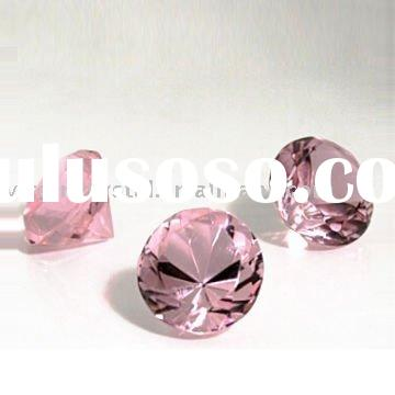 Optical Pink Crystal Diamond Paperweight Wedding Favors