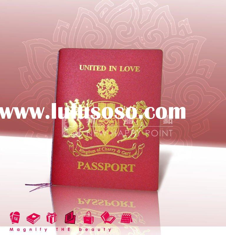 Passport wedding invitation card