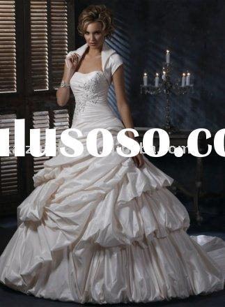 Princess noble lace stack-up ball wedding dress bride gown