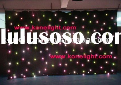 RGB Led star cloth wedding decoration / stage backdrop