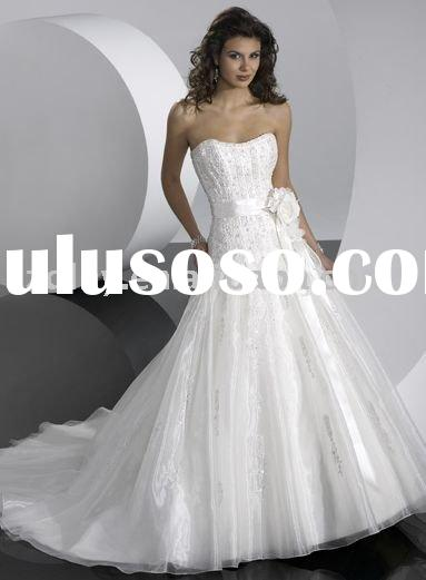TY10262&2011 high-grade white stunning design and best discount bridal gown