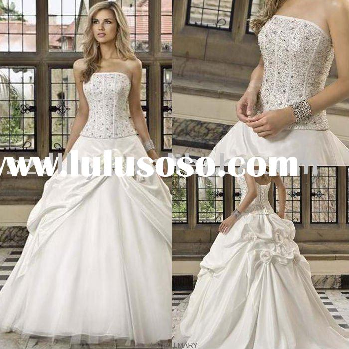 TY10751&2011 high-grade white stunning design and best price  bridal gown