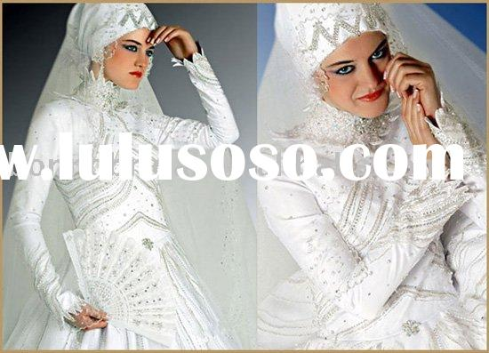 The classic long sleeves arabic wedding dress/arabic bridal gown/ arabic bridal dress 987714