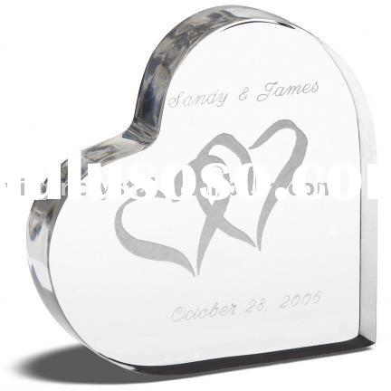 Two Hearts Personalized Cake Topper Crystal Wedding Favors