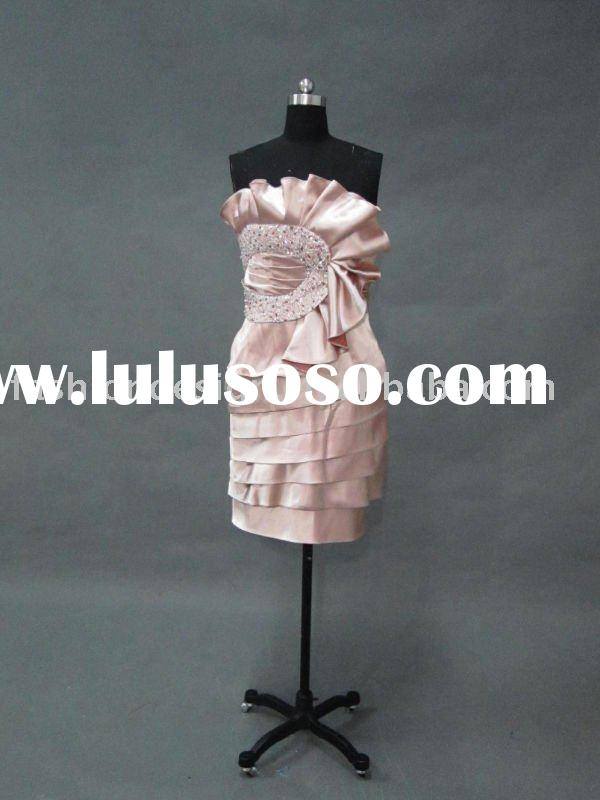 VO 141 Real strapless beaded min length mother of bride dress