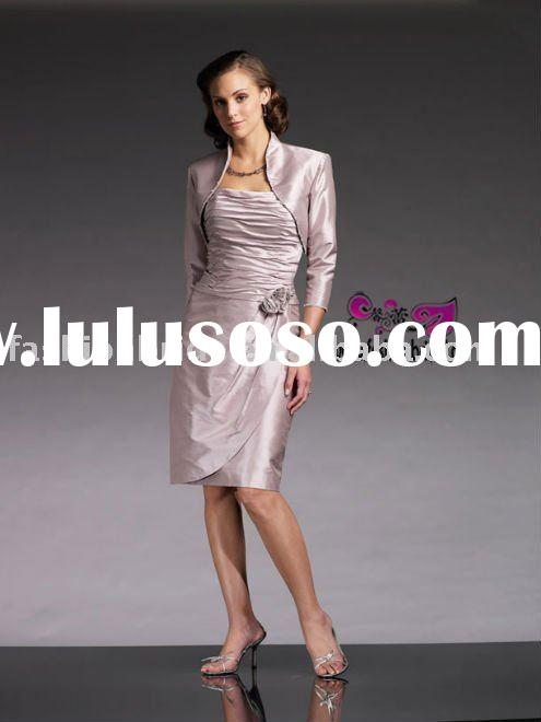 Vogue sheath taffeta mother of bride dress