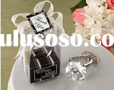 "Wedding Metal favors-""With This Ring"" Engagement Ring Keychain"