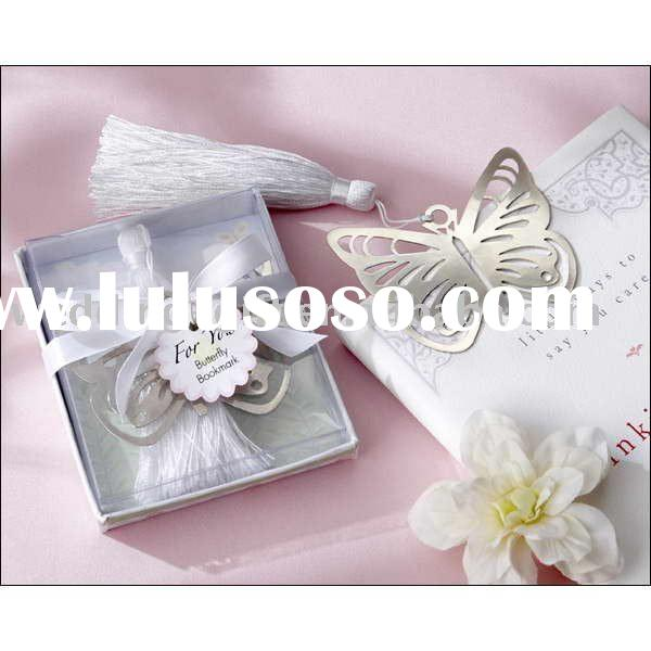 Wedding decoration of Butterfly Silver-Metal Bookmark Wedding Favor
