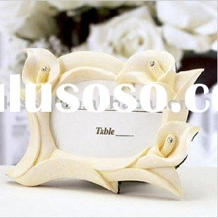 Wedding gift Ivory Calla Lily Place Card Frame