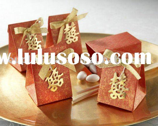 """""""Double Happiness"""" Asian-Themed Favor Box"""