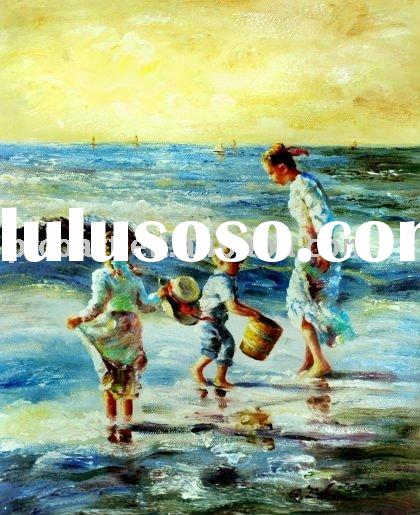 beach decoration oil painting