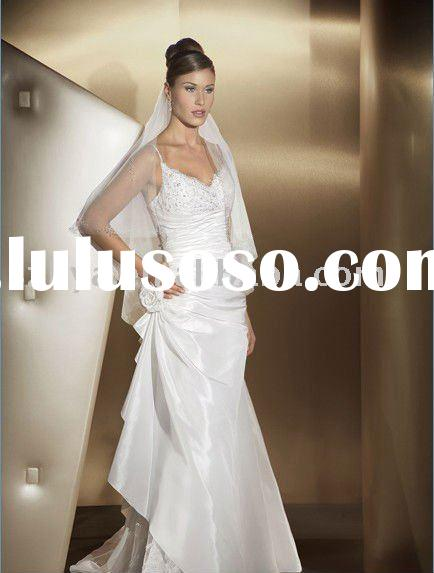 best selling lace white indian wedding dresses