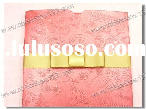 bowknot for wedding invitation card