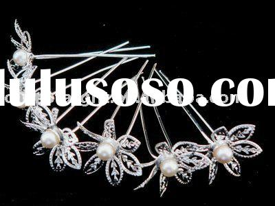 bridal wedding jewelry, hair clip, crystal hair pins, hair accessories