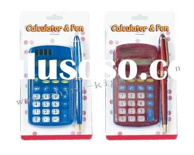 calculator with pen set