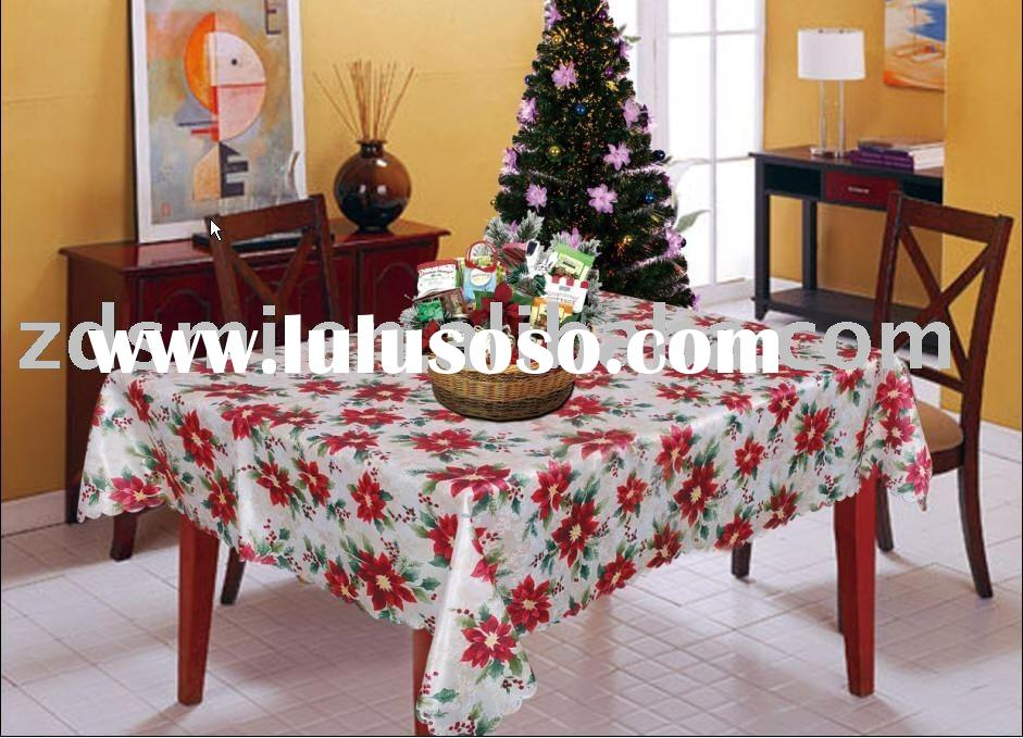 delicated christmas table cloth