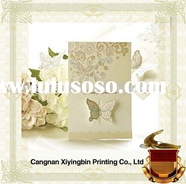 exquisite butterfly diy invitation card-----28-088