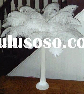 home and wedding party decorations of ostrich feather centerpiece